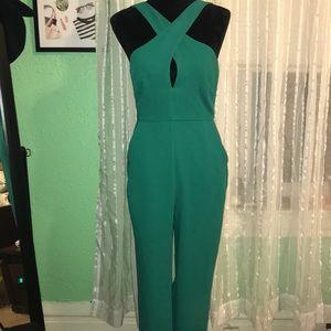 BCBGeneration Emerald Green Jumpsuit